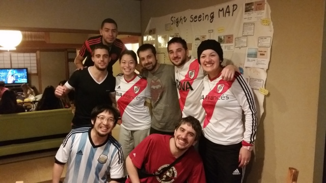 River Plate Fans in Kyoto